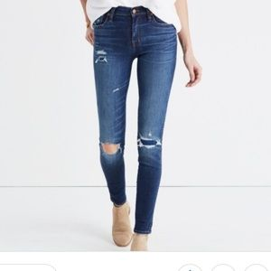 NWT 9 inch high rise jeans 25 ripped and patched